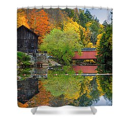 Shower Curtain featuring the photograph Mcconnells Mill State Park by Emmanuel Panagiotakis