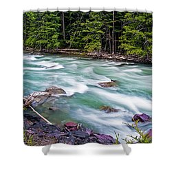 Shower Curtain featuring the photograph Mcdonald Creek by Gary Lengyel
