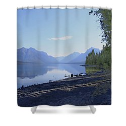 Mcdonald Lake Shower Curtain by Susan Crossman Buscho