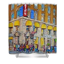 Mcdonald Restaurant Old Montreal Shower Curtain by Carole Spandau
