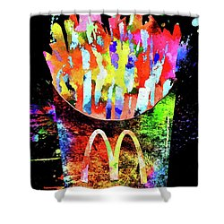 Mcdonald's French Fries Grunge Shower Curtain