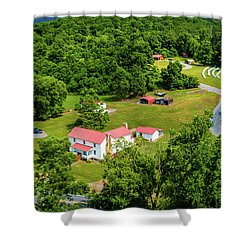 Mcghee Aerial 0068 Shower Curtain