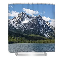Shower Curtain featuring the photograph Mcgown Peak by Aaron Spong