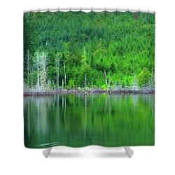 Mcguire Reservoir P Shower Curtain by Jerry Sodorff