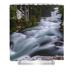 Shower Curtain featuring the photograph Mckenzie River by Cat Connor