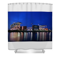 Mclane Stadium Evening Shower Curtain
