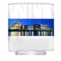 Mclane Stadium Panoramic Shower Curtain