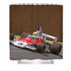 Mclaren M23 Shower Curtain by Wally Hampton
