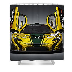 Mclaren P1 Gtr Shower Curtain