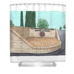 Mclb Barstow Welcome Shower Curtain