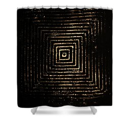 Mcsquared Shower Curtain by Cynthia Powell