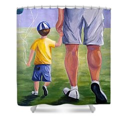 Me And My Dad Shower Curtain