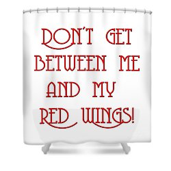 Shower Curtain featuring the digital art Me And My Red Wings 1 by Andee Design