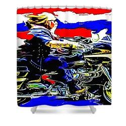 Mead In America Shower Curtain