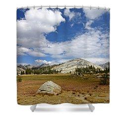 John Muir Trail High Sierra Camp Meadow Shower Curtain