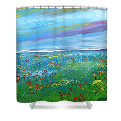 Meadow Drops By Colleen Ranney Shower Curtain