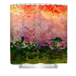 Shower Curtain featuring the digital art Meadow Morning by Wendy J St Christopher
