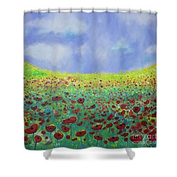 Meadow Of Poppies  Shower Curtain