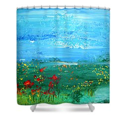 Meadow Pond By Colleen Ranney Shower Curtain