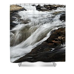 Meadow Run Water Slide 2 Shower Curtain