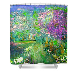Meadow Trail By Colleen Ranney Shower Curtain