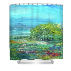 Meadow Trees Shower Curtain