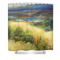 Meadowlands Of Gold Shower Curtain by Glory Wood