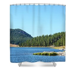Meadowlark Lake View Shower Curtain by Jess Kraft