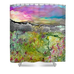 Meadows Of Banff Shower Curtain