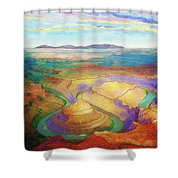Meander Canyon Shower Curtain
