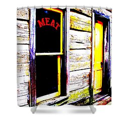 Meat Market Shower Curtain by Ed Smith