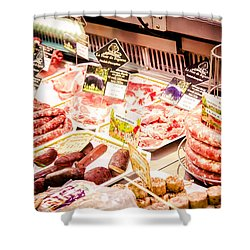 Shower Curtain featuring the photograph Meat Market by Jason Smith