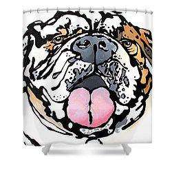 Meatball The Bull Dog Shower Curtain