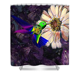 Mecha Whirlygig Shower Curtain by Iowan Stone-Flowers
