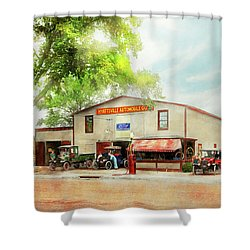 Shower Curtain featuring the photograph Mechanic - All Cars Finely Tuned 1920 by Mike Savad
