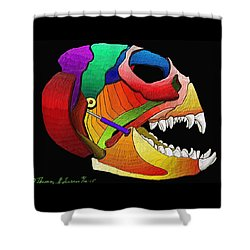 Mechanic Fishhead Shower Curtain