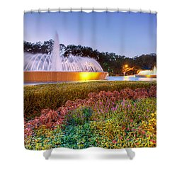 Mecom Fountain Shower Curtain by Tim Stanley