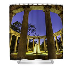 Mecom Rockwell Colonnade And Fountain Shower Curtain