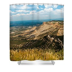 Shower Curtain featuring the photograph Mesa Verde by Jay Stockhaus
