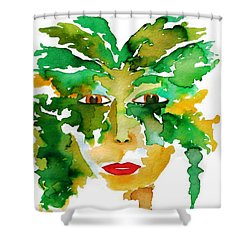 Medeina Goddess Of The Woodland Forest Shower Curtain