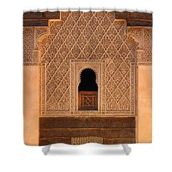 Shower Curtain featuring the photograph Medersa Ben Youssef by Ramona Johnston