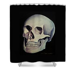 Medical Skull  Shower Curtain by James Christopher Hill