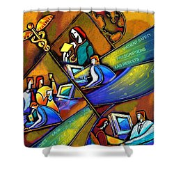 Medicare And Information Technology Shower Curtain