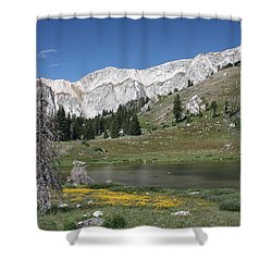 Medicine Bow Peak Shower Curtain