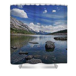 Medicine Lake, Jasper Shower Curtain