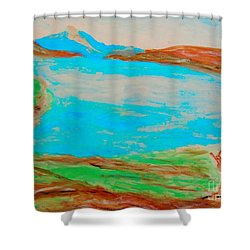 Medicine Lake Shower Curtain