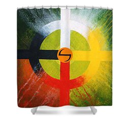 Medicine Wheel Shower Curtain by J W Kelly