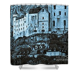 Medieval Castle In The Pilgrimage Town Of Rocamadour Shower Curtain