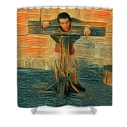 Medieval Dungeons Shower Curtain