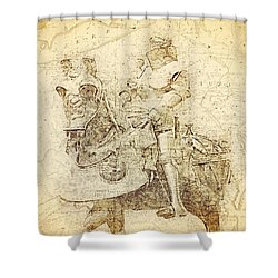 Medieval Europe Shower Curtain